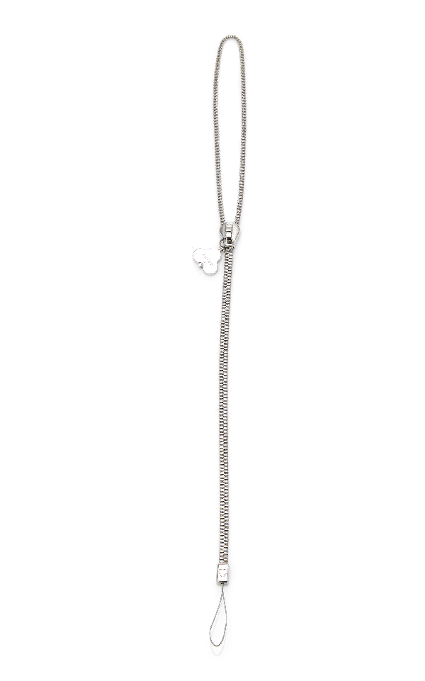 18e55f3f93dd Chaos Exclusive Stainless-Steel Zip Lanyard In Silver   ModeSens