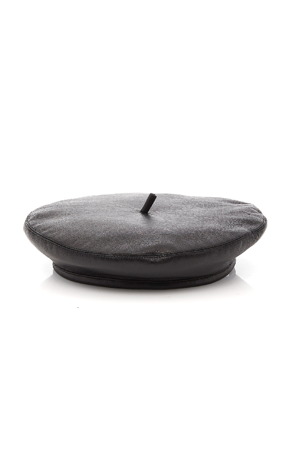 f4c0bdc465f8b4 Eugenia Kim The Carter Leather Beret In Black | ModeSens