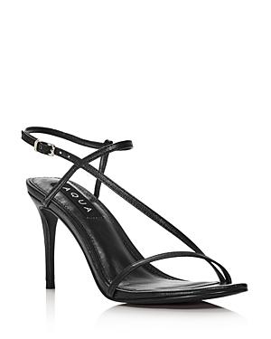 133b14f043d Aqua Women s Ron High-Heel Sandals - 100% Exclusive In Black Leather ...