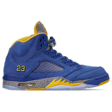 Men's Air Jordan Retro 5 Laney Jsp Basketball Shoes, Blue in Varsity  Royal/Varsity Maize