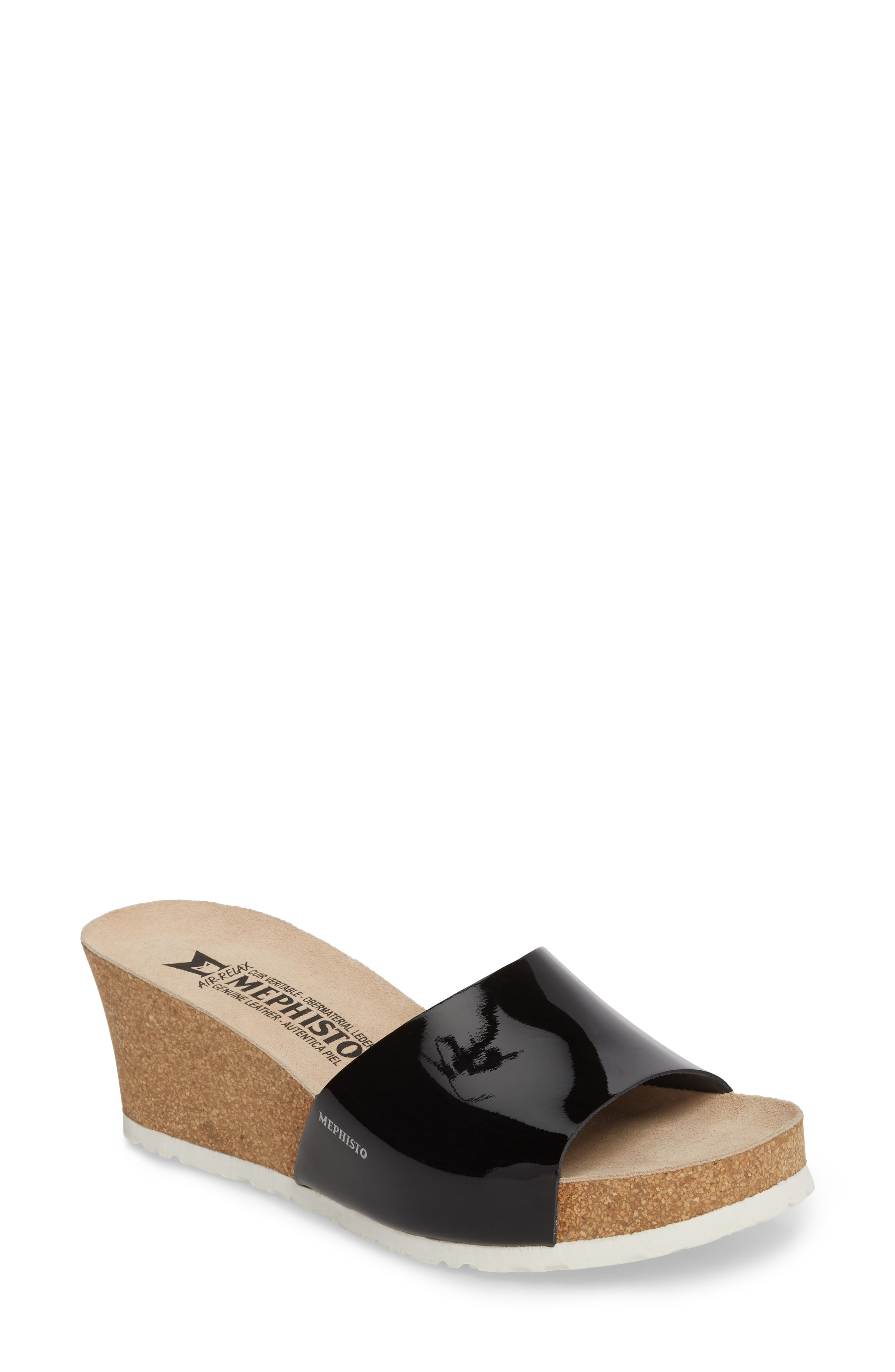 07e2224874f Mephisto Lise Platform Wedge Sandal In Platinum Leather