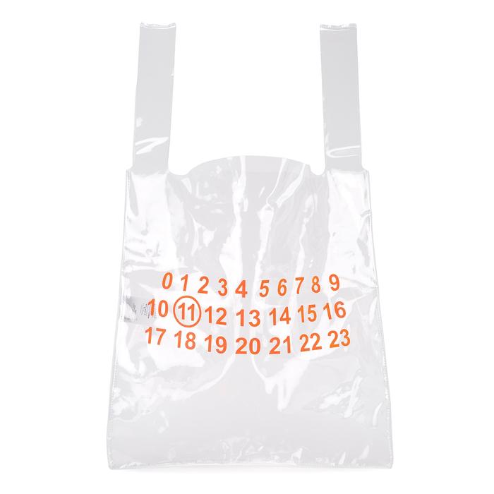 08b595322988 Maison Margiela Clear Plastic Tote Bag In White