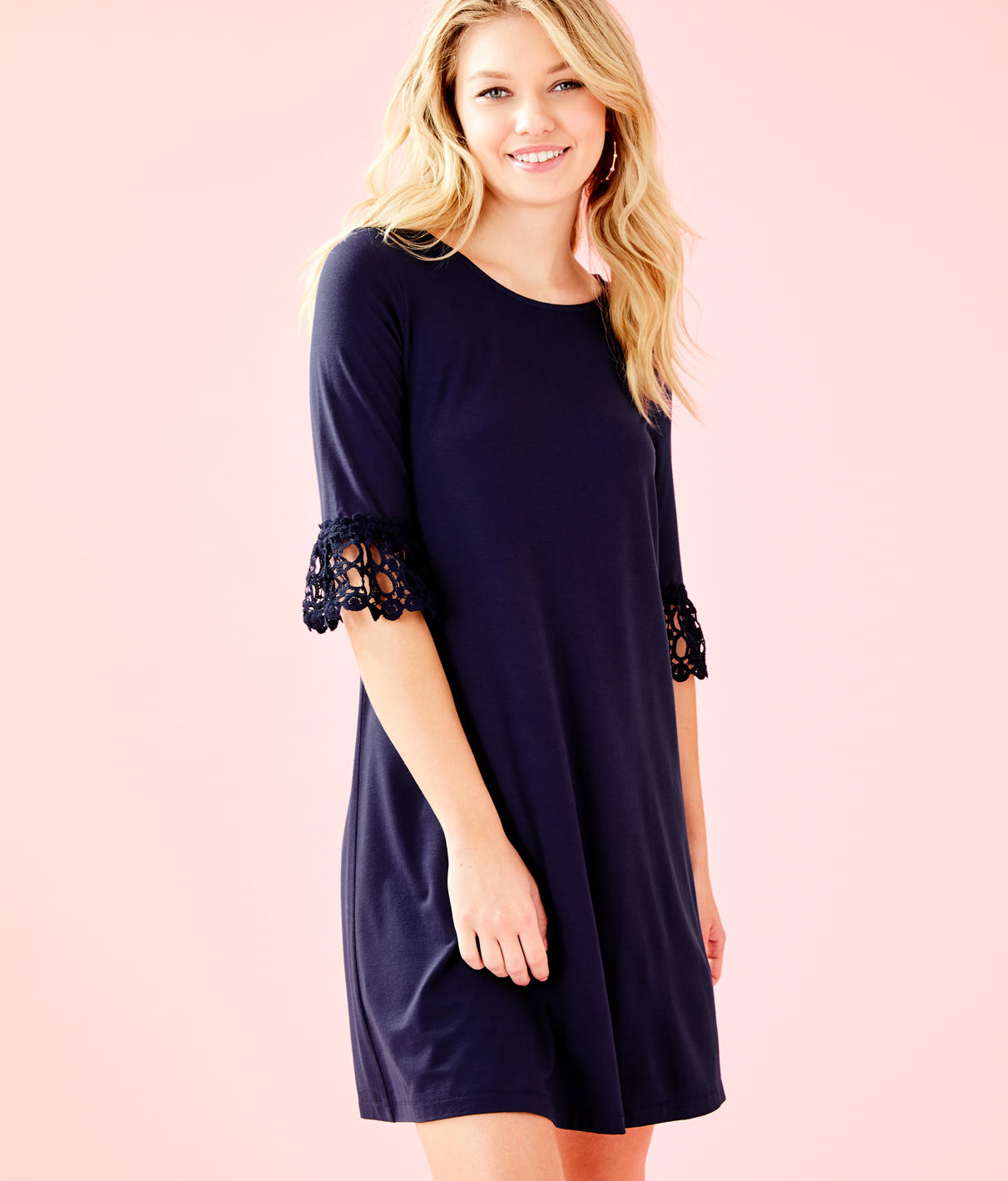 a2e8b501134238 Lilly Pulitzer Ophelia Dress In True Navy | ModeSens
