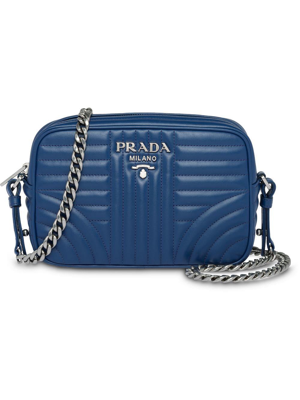 208474db50d0df Prada Diagramme Crossbody Bag - Blue | ModeSens