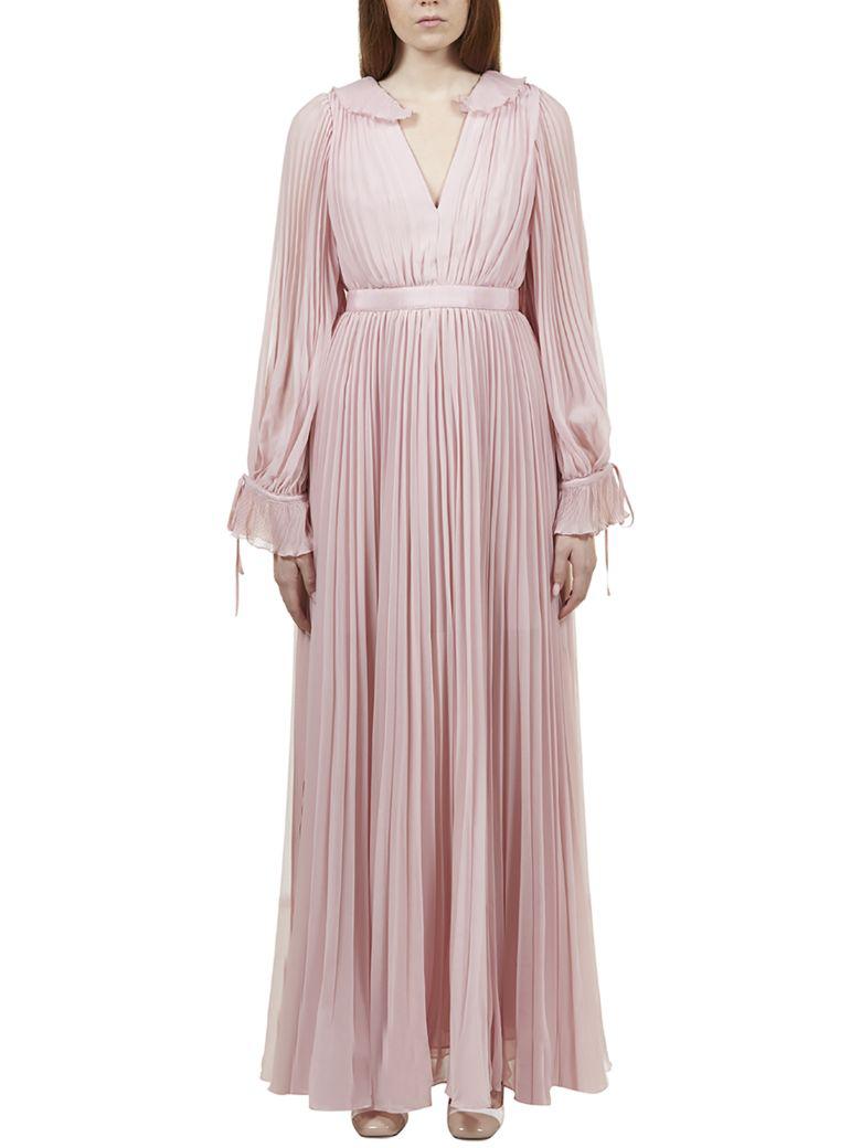 4a09b9ec3c90 Self-Portrait Chiffon Pleated Maxi Dress In Pink | ModeSens