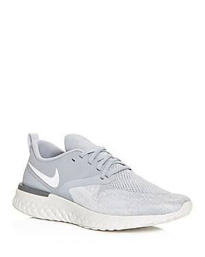 c57958cc14d78 Nike Men s Odyssey React Flyknit 2 Running Sneakers From Finish Line In Wolf  Grey White