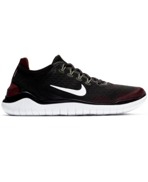 7031a9036281 Nike Men s Free Run 2018 Running Sneakers From Finish Line In Night Maroon  Black-