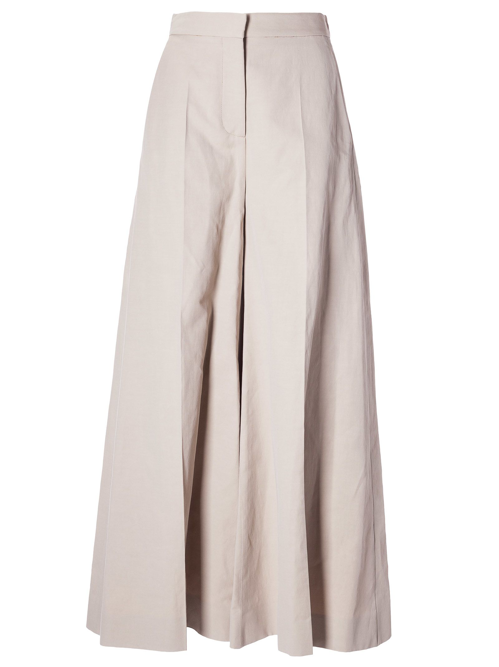 Stella Mccartney Wide Leg Trousers In 9700 - Beig