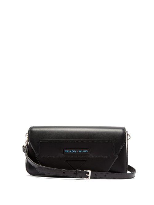 7dca0aecdd61 Prada Manuelle Leather Shoulder Bag In Black