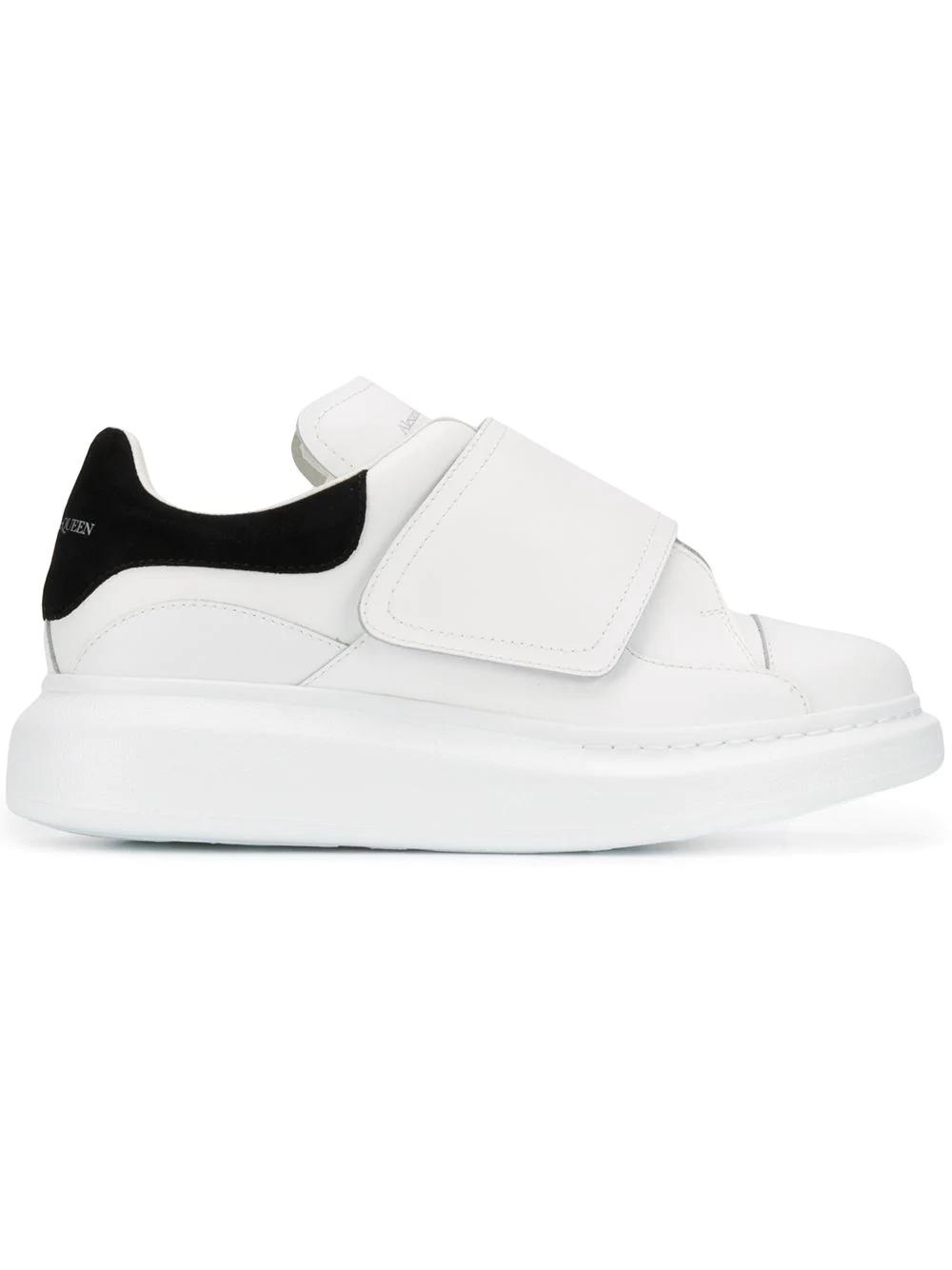 a8f0378dee1d Alexander Mcqueen White Flap Tab Oversized Sneakers