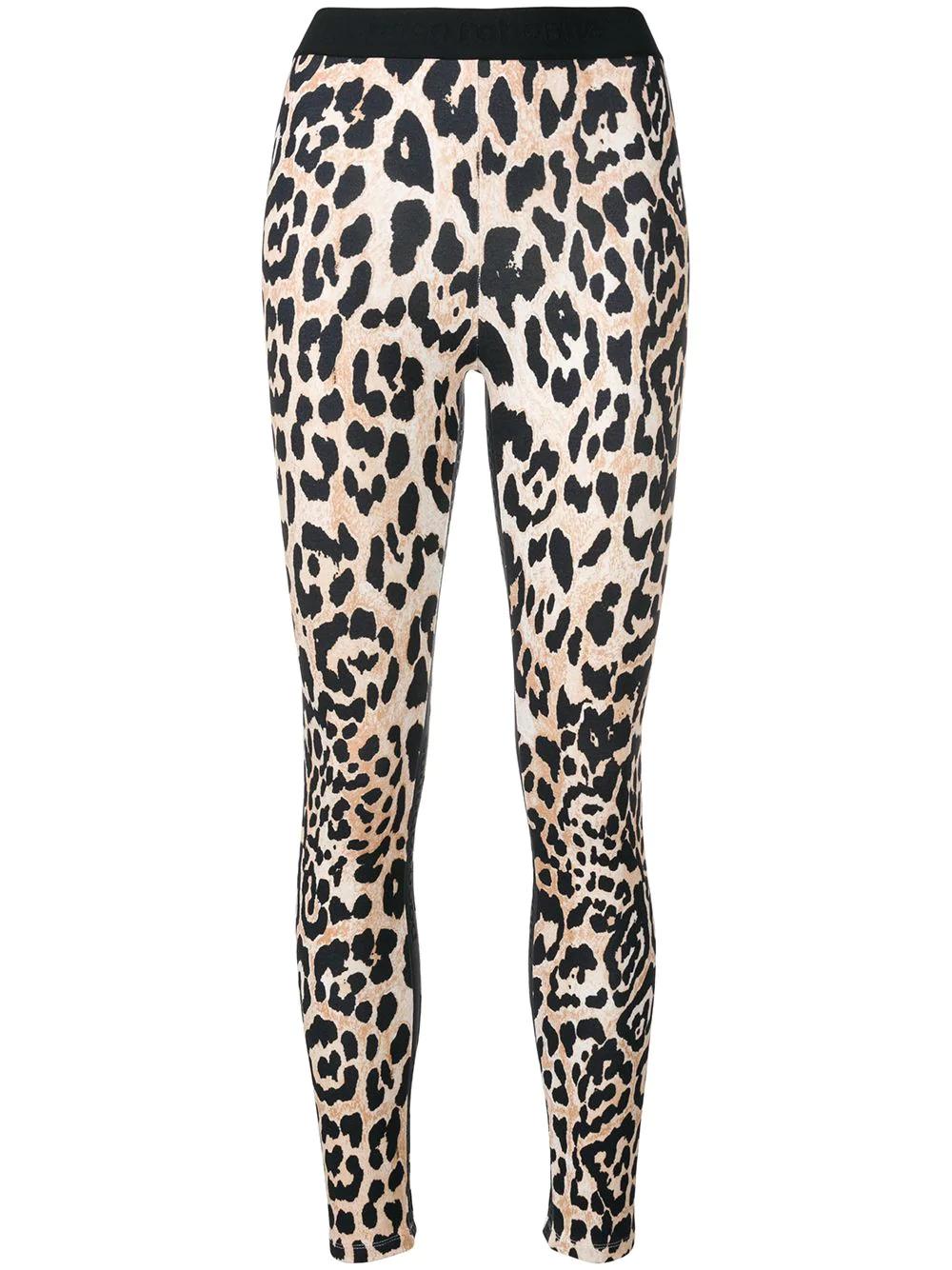 b11a6a285056b Paco Rabanne - Leopard Print Stretch Leggings - Womens - Leopard In Brown