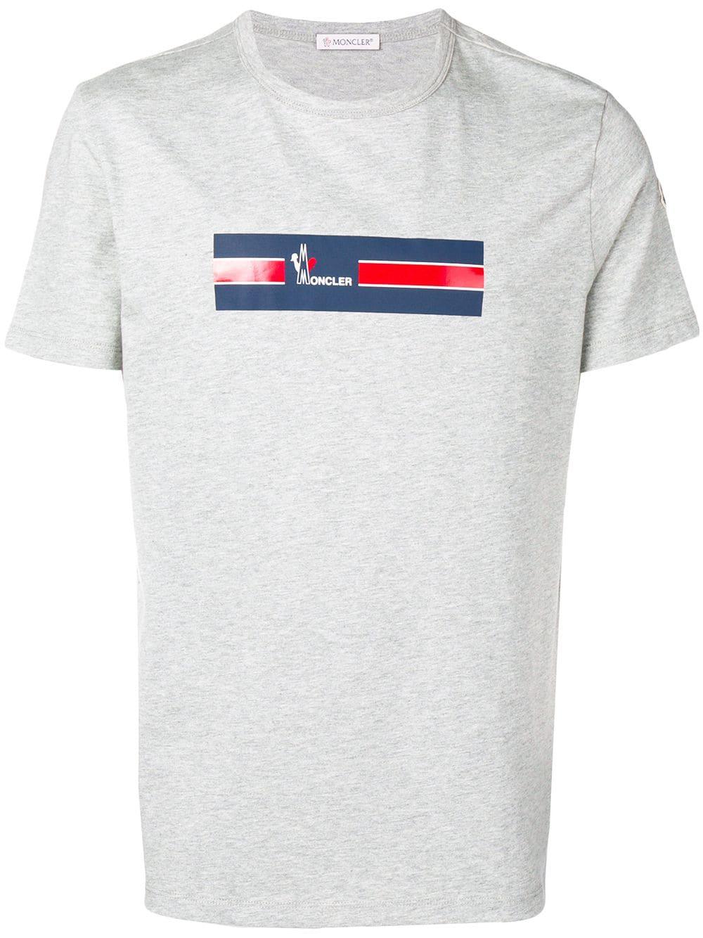 2c7fbb4ad0a5 Moncler Logo Print T-Shirt - Grey