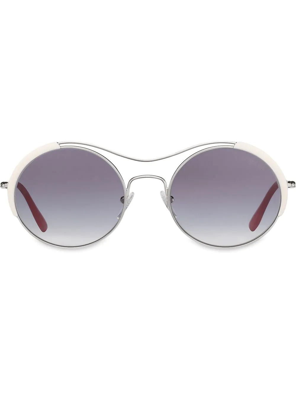 98547f7222c Prada Eyewear Round Shaped Sunglasses - White