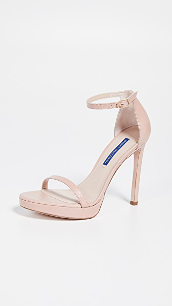 85131bcebc03 Stuart Weitzman Nudist Disco Sandals In Buff Blush | ModeSens