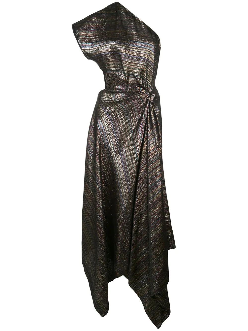 6d19b748d8791 Rosetta Getty One Shoulder Twist Dress - Black