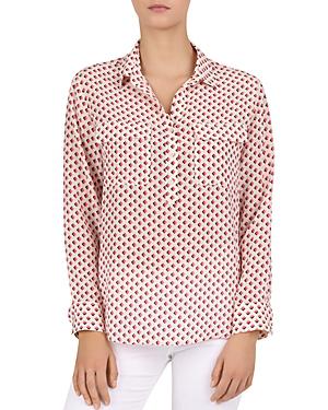 70319d8f730e04 Gerard Darel Edy Silk Geo-Print Shirt In Pink | ModeSens
