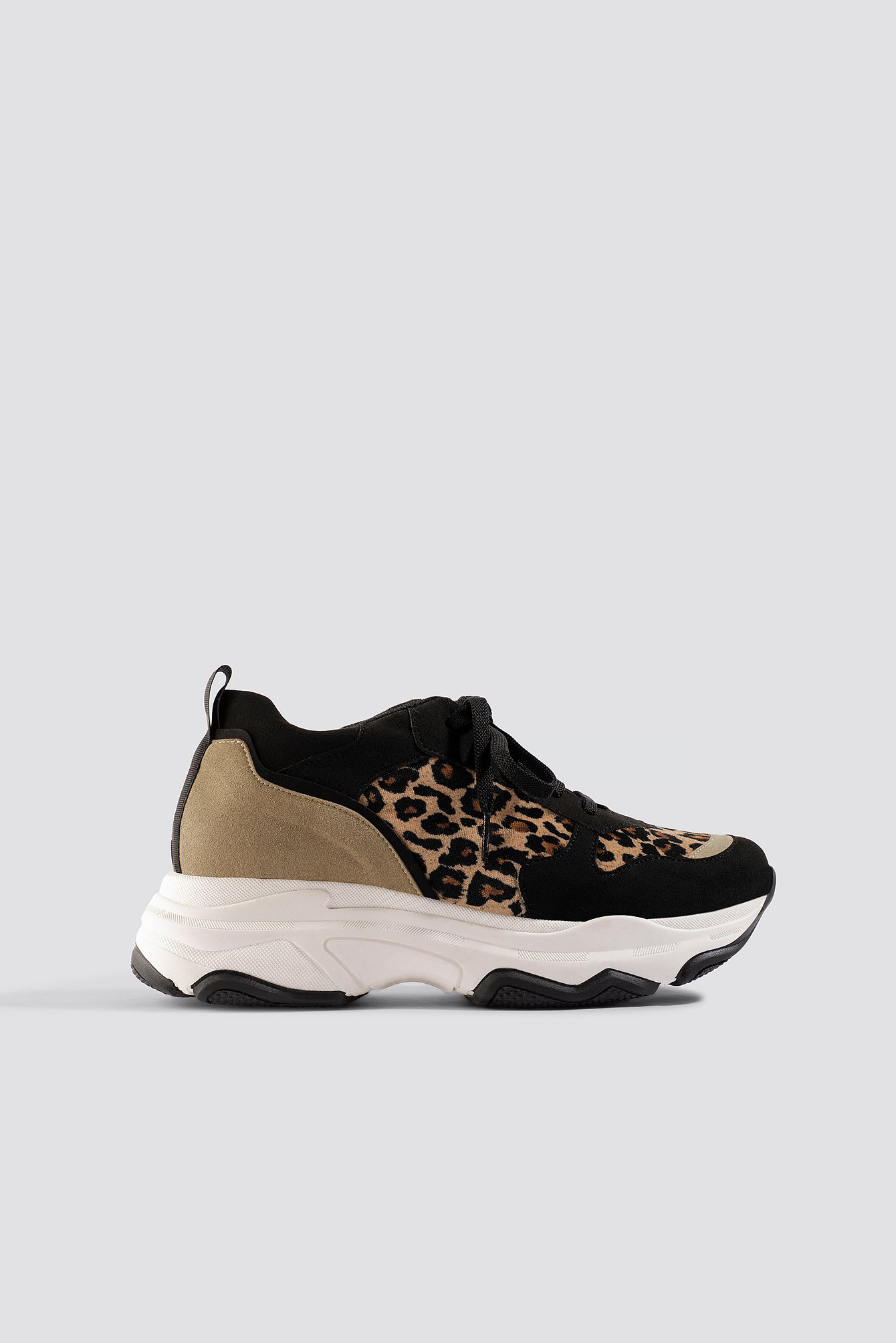 competitive price 642d3 3594b Na-Kd Leopard Chunky Trainers - Black, Brown, Multicolor In Black,Brown