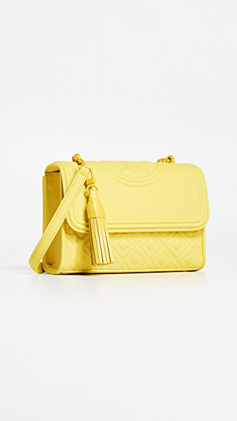 6c10ad88f7b Tory Burch Fleming Matte Small Convertible Shoulder Bag In Yellow Orchid