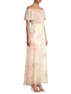 0604044e245 Loveshackfancy Evelyn Floral Silk Maxi Dress In Multi