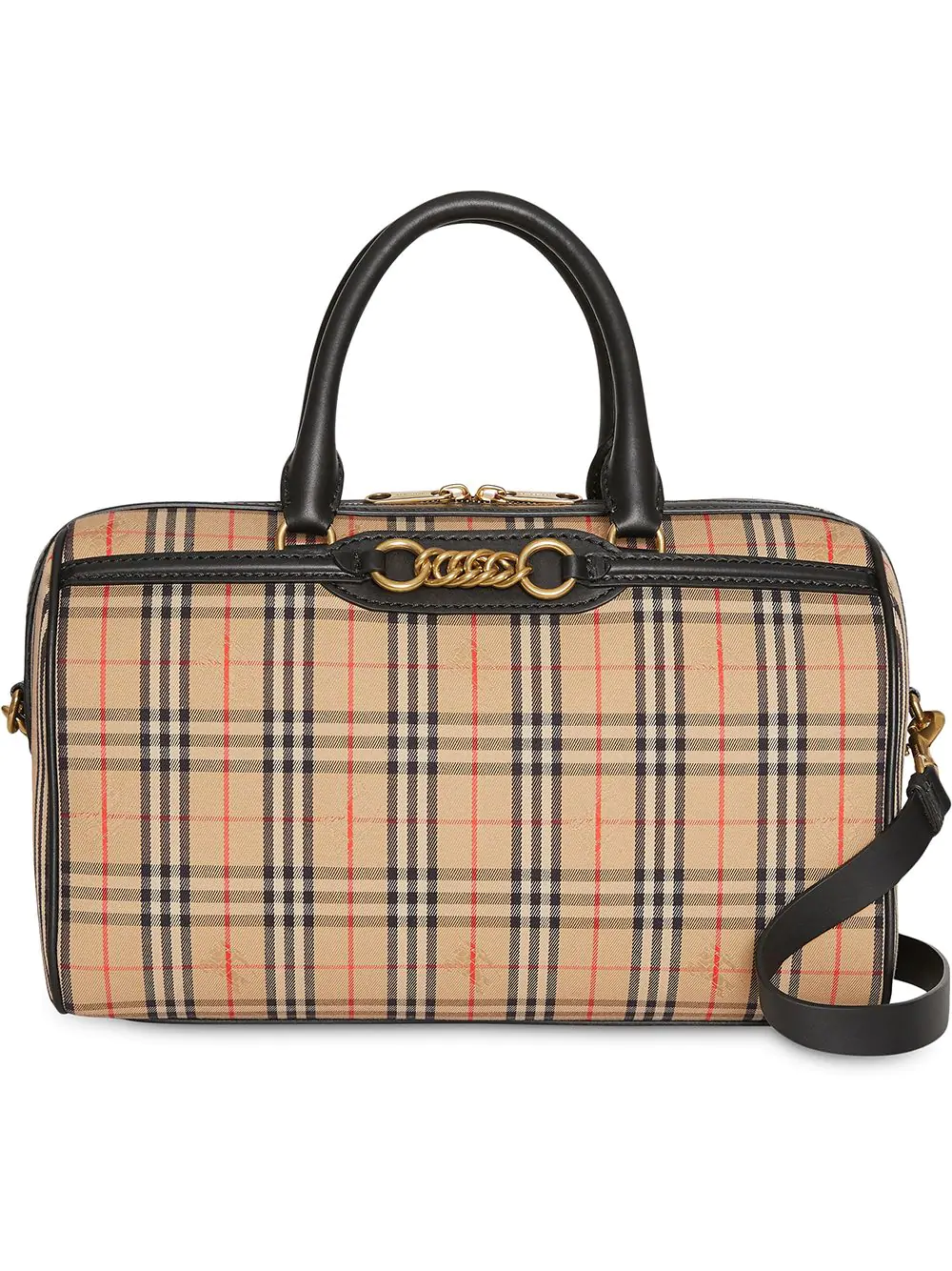 6715958923f6 Burberry The Medium 1983 Check Link Bowling Bag - Neutrals