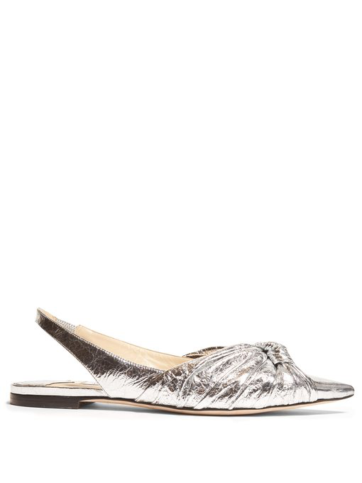 Pumps Slingback Annabelle Metallic Leather Womens Choo Jimmy ZTwuOkiPX