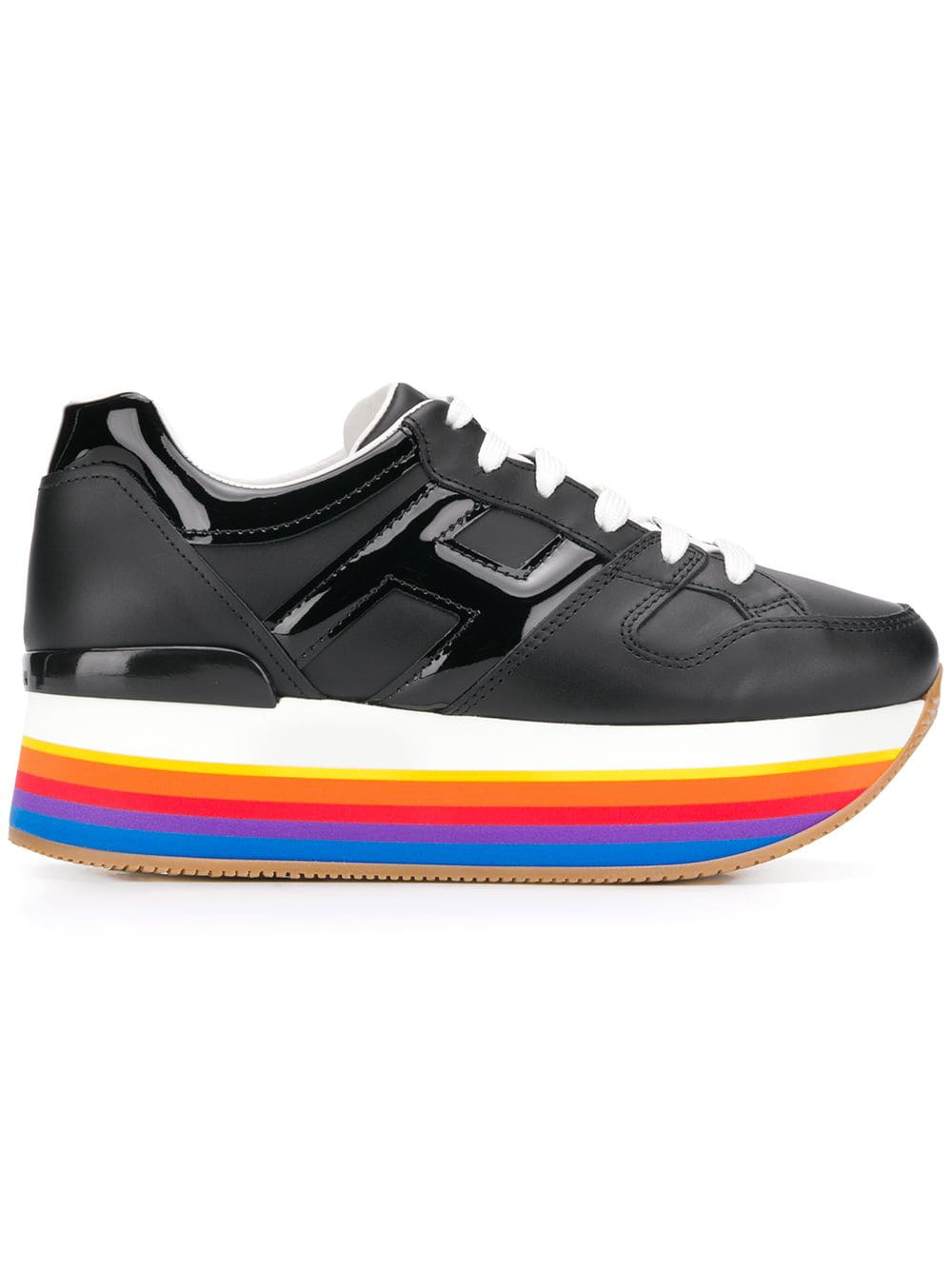 5ee1e1e712b6 Hogan Rainbow Platform Sole Sneakers - Black. Farfetch