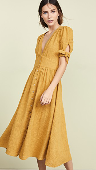 eac0564e2519 Free People Love Of My Life Dress In Golden | ModeSens