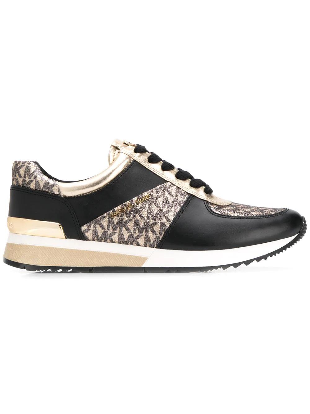 f0bd4ec8ca4 Michael Kors Monogram Print Sneakers - Black   ModeSens