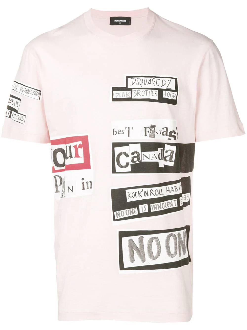 c7ee01d9 Dsquared2 Collage Print T-Shirt - Pink   ModeSens