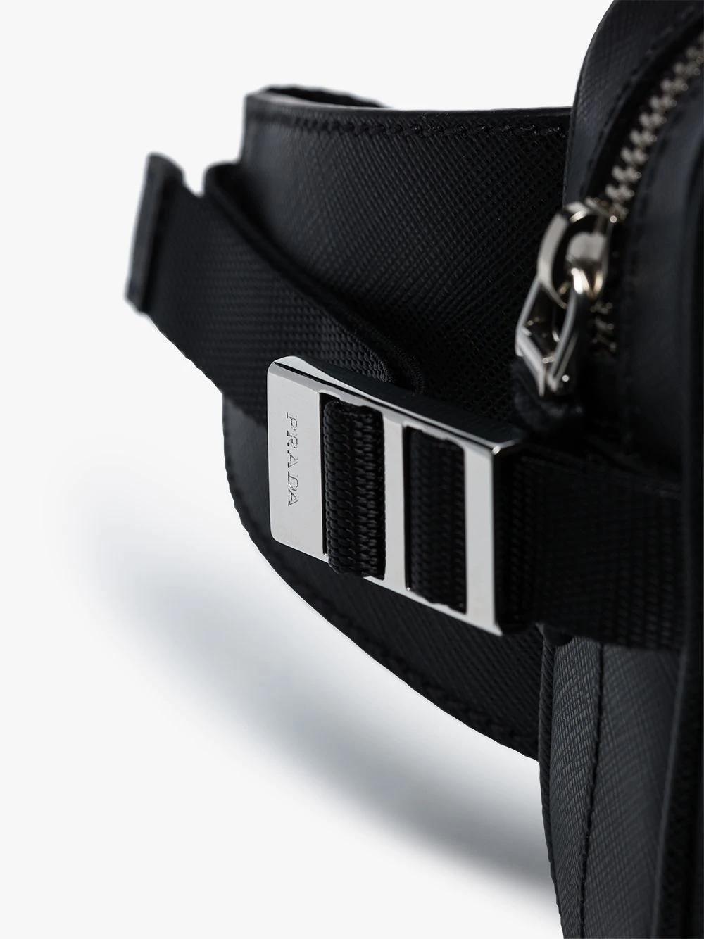 41f1fe5957a08 Prada Triangle Logo Belt Bag In Black | ModeSens