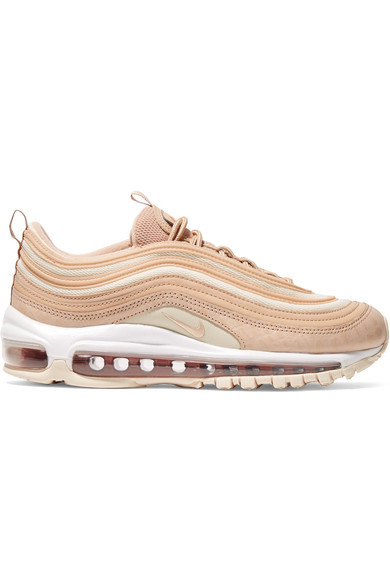 timeless design 91c88 4a8e2 Nike Air Max 97 Lx Croc-Effect Leather And Mesh Sneakers In Neutral