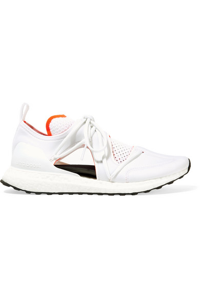 c3a193b40a0 Adidas By Stella Mccartney Ultraboost T Cutout Neoprene And Primeknit  Sneakers In White