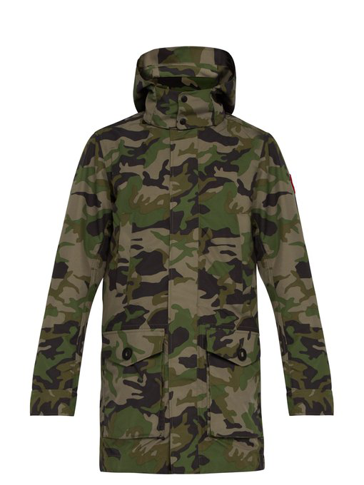 7bffb5759b5de Canada Goose Crew Camouflage-Print Shell Hooded Coat In Green | ModeSens