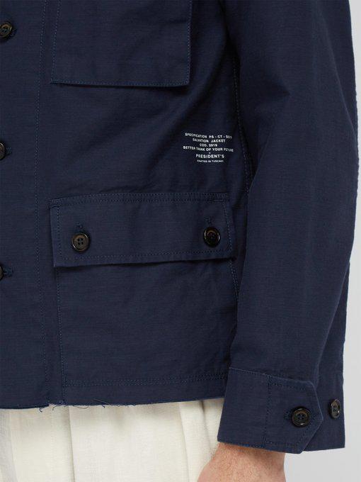 President S Salvation Cotton Field Jacket Mens Navy Modesens