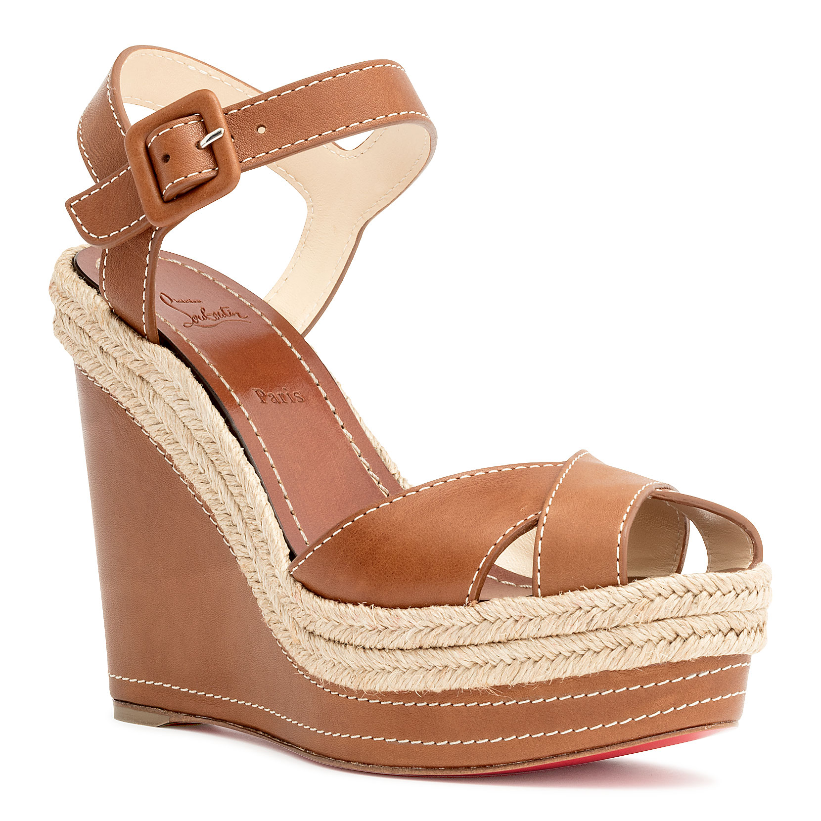 09d5fcc1d80 Christian Louboutin Almeria 120 Espadrille Platform Wedge Sandals In ...