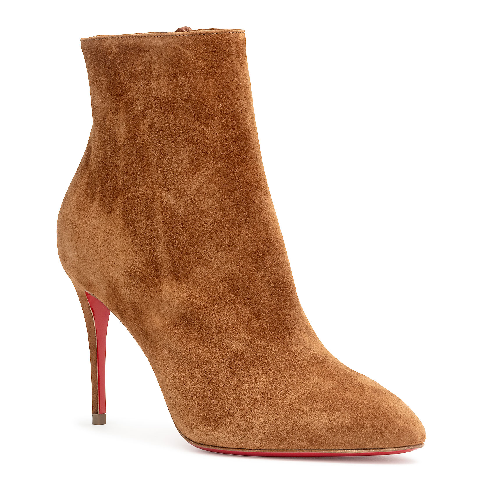 c68d430a2caf Christian Louboutin Eloise Booty 85 Tan Suede Ankle Boots In Brown ...