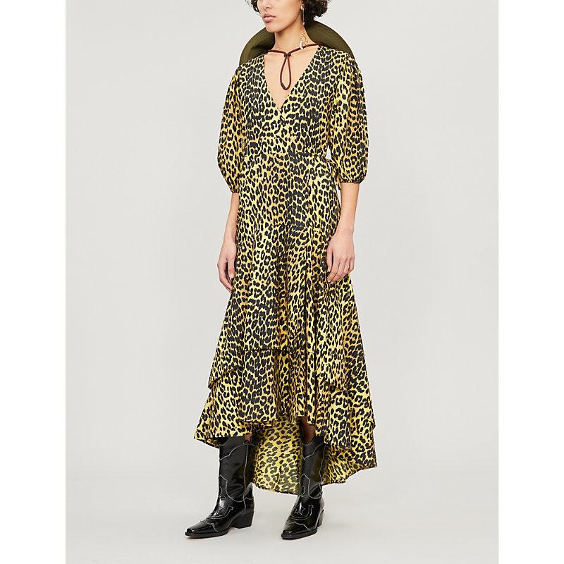 2a67bbef Ganni Bijou Leopard Print Wrap Dress Multi Coloured | ModeSens