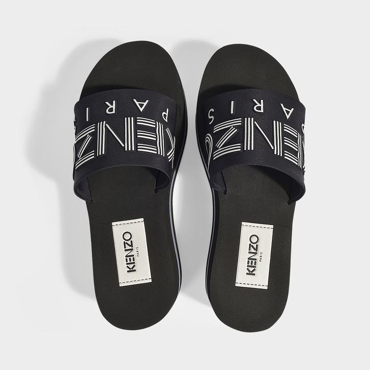 3c52fd08a Kenzo Papaya Black Rubber Platform Slides In 99 - Black | ModeSens
