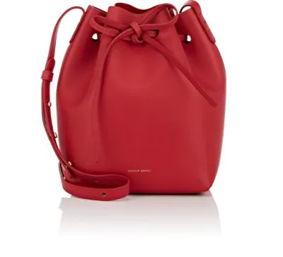 Mansur Gavriel Leather Mini Bucket Bag - Red