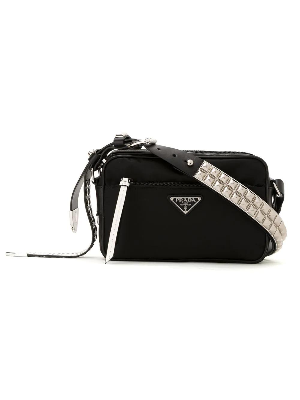 f1d634a0d2 Prada Nylon Shoulder Bag - Black In F0967 Black/White | ModeSens
