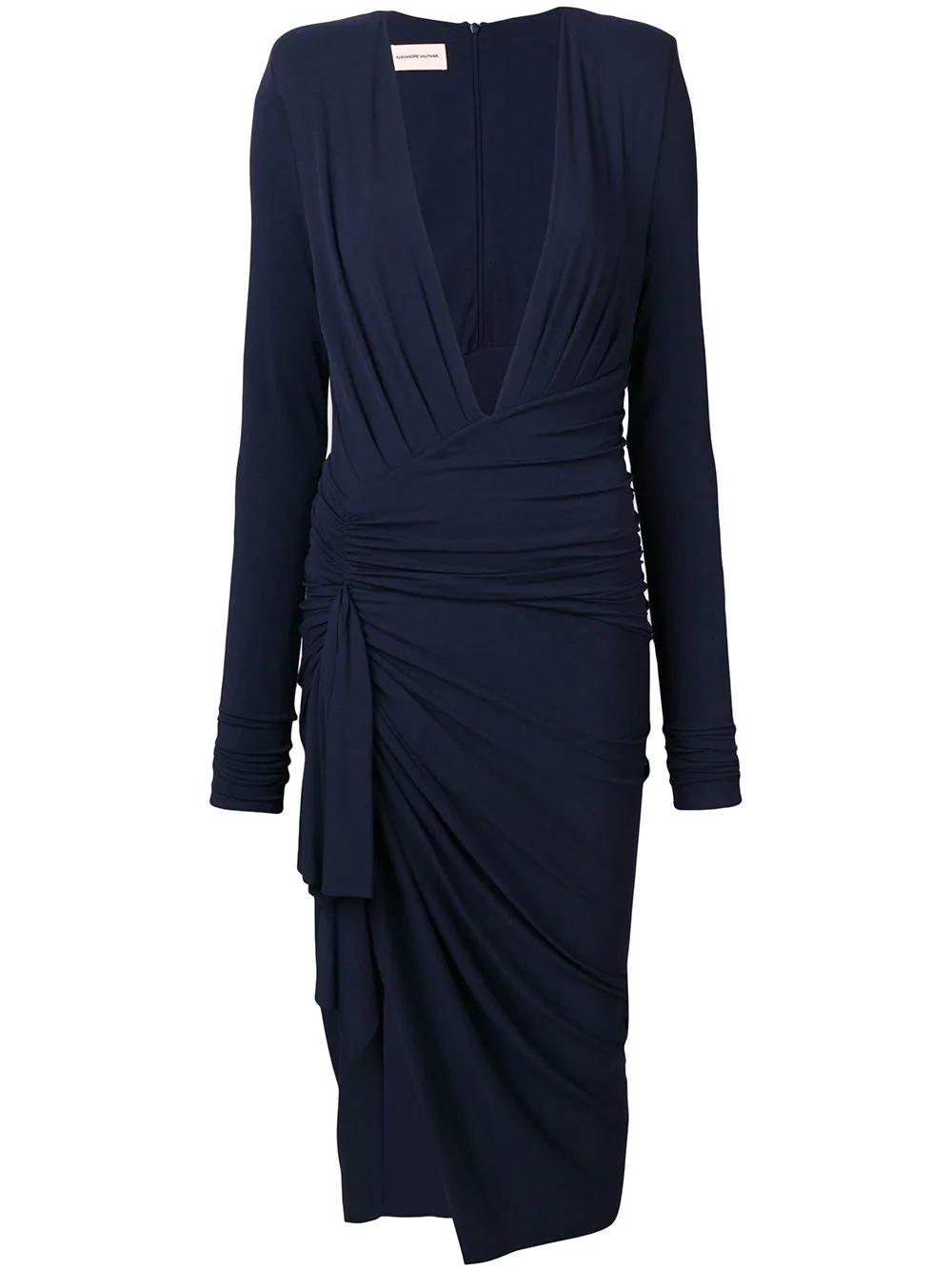 9ab77003d32c Alexandre Vauthier Draped Midi Dress - Blue | ModeSens