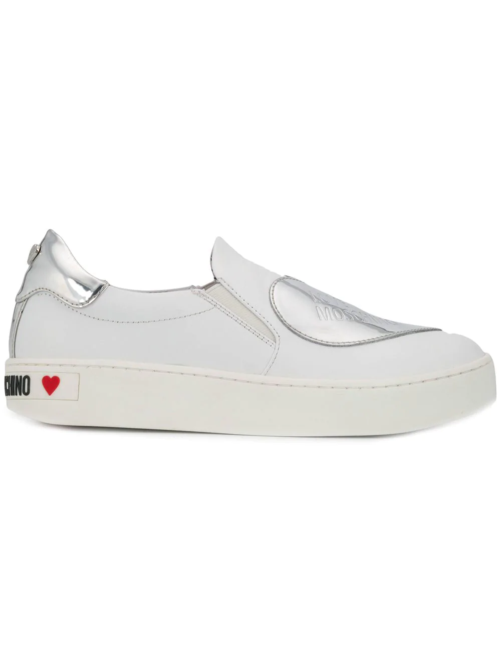 Sneakers Moschino Love WhiteModesens Heart Patch On Slip 8XNknZ0wOP