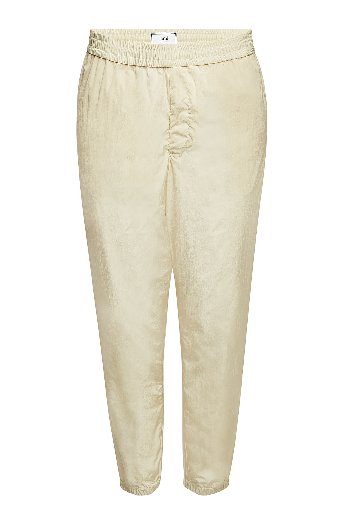 6130cb00cda7 Ami Alexandre Mattiussi Track Pants With Elasticated Waist In Beige ...