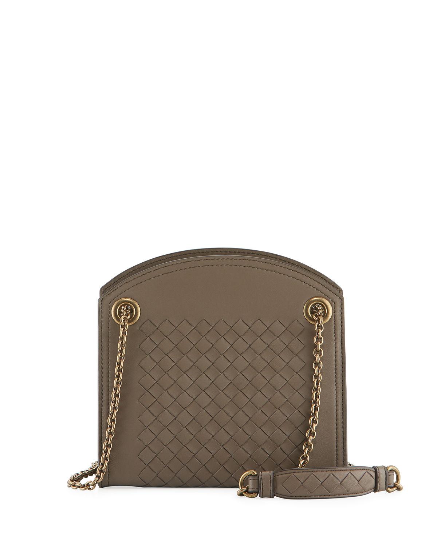95ba065c6b92a Bottega Veneta Intrecciato Leather Small Shoulder Bag In Medium Gray ...