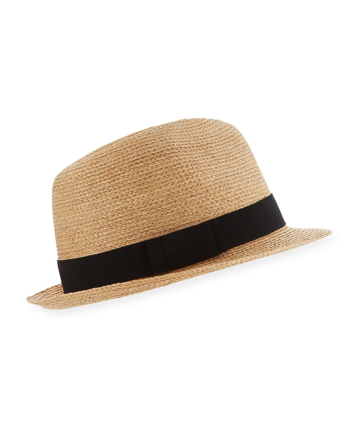 5e80f4186fe49 Helen Kaminski Wide Raffia Boater Hat - Grey In Nougat  Black