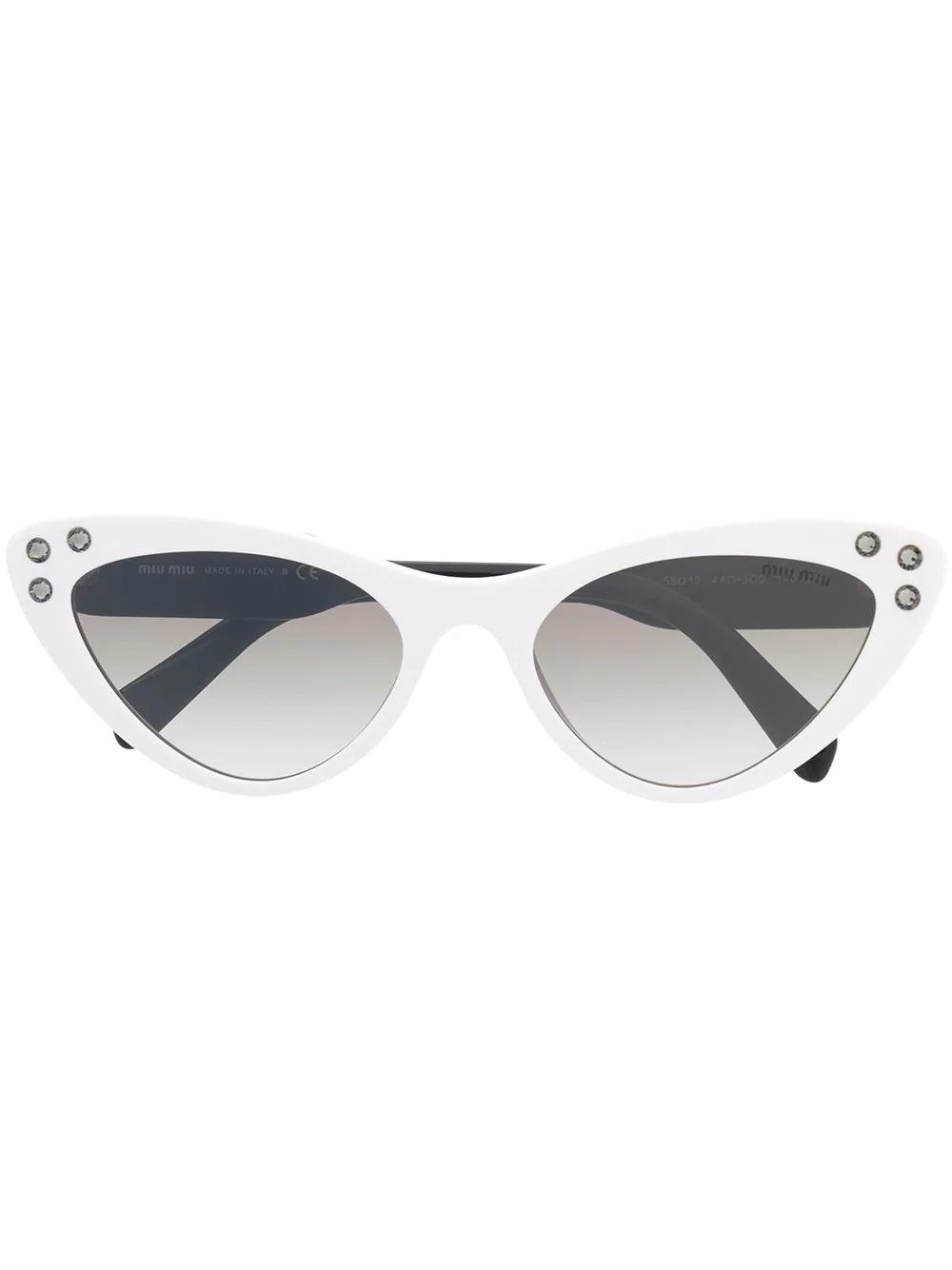 4e9fc976d87 Miu Miu Eyewear Cat-Eye-Sonnenbrille - Schwarz In Black