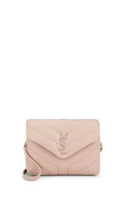 de9cbb3fac SAINT LAURENT. Loulou Monogram Ysl Mini V-Flap Calf Leather Crossbody Bag -  Nickel ...