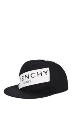 Givenchy Logo Canvas Baseball Cap - Wht.&Blk. In Black