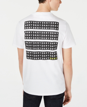 Dkny Men S Blocks Logo Graphic T Shirt In White Modesens