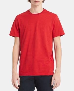 adc3edd29333 Calvin Klein Men's Feeder Striped Pima Cotton T-Shirt In High Risk Red